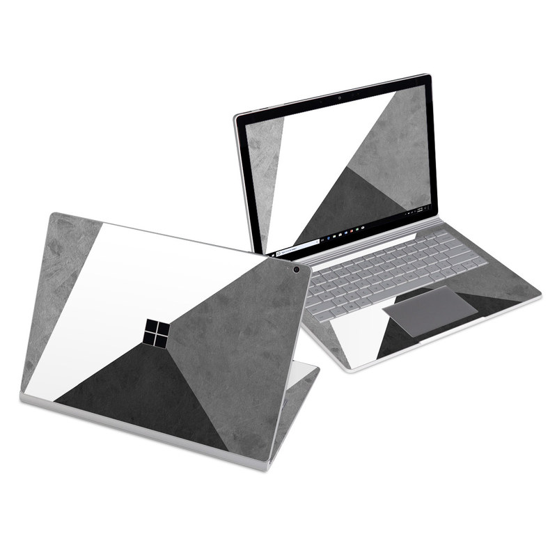 Microsoft Surface Book 3 13.5-inch i7 Skin design of Black, White, Black-and-white, Line, Grey, Architecture, Monochrome, Triangle, Monochrome photography, Pattern with white, black, gray colors