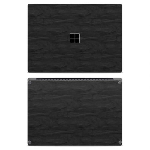 Black Woodgrain Microsoft Surface Laptop Skin