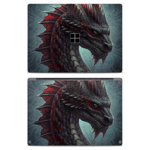 Black Dragon Microsoft Surface Laptop Skin