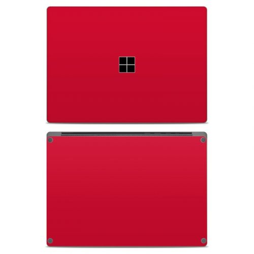 Solid State Red Microsoft Surface Laptop Skin
