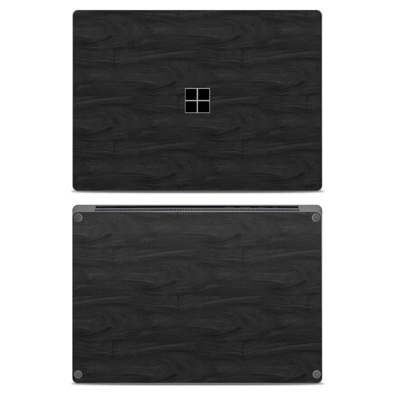 Microsoft Surface Laptop Skin design of Black, Brown, Wood, Grey, Flooring, Floor, Laminate flooring, Wood flooring with black colors