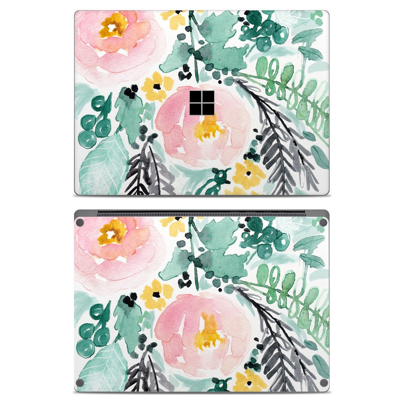 Blushed Flowers Microsoft Surface Laptop Skin