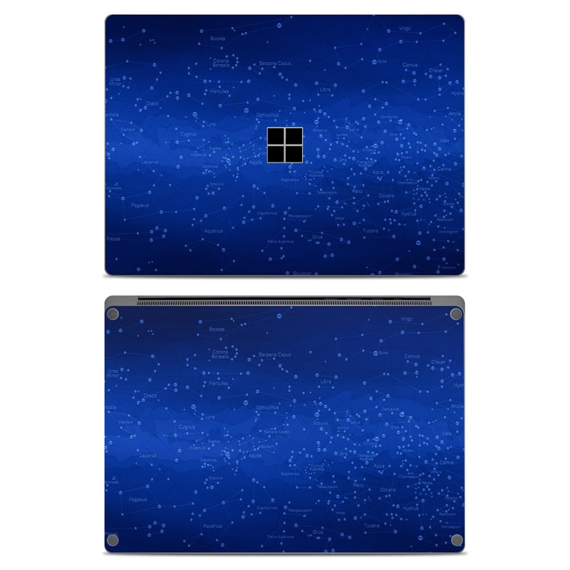 Microsoft Surface Laptop Skin design of Blue, Sky, Atmosphere, Cobalt blue, Electric blue, Purple, Violet, Light, Azure, Majorelle blue with blue, black colors