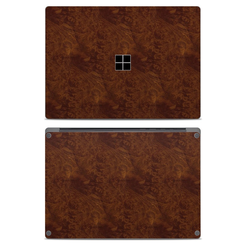 Dark Burlwood Microsoft Surface Laptop Skin