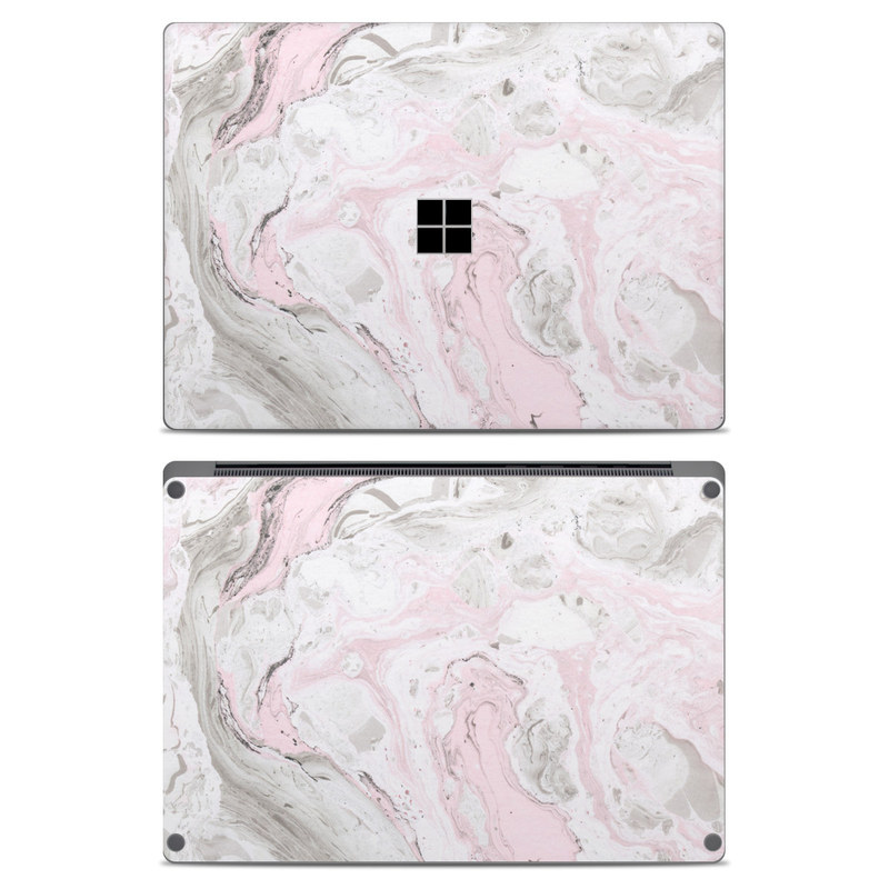 Microsoft Surface Laptop Skin design of White, Pink, Pattern, Illustration with pink, gray, white colors