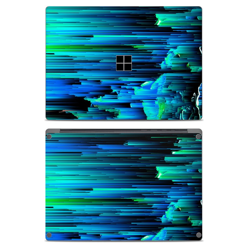 Microsoft Surface Laptop Skin design of Blue, Green, Turquoise, Light, Colorfulness, Electric blue with blue, green, black, white colors