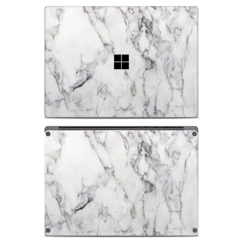 White Marble Microsoft Surface Laptop Skin