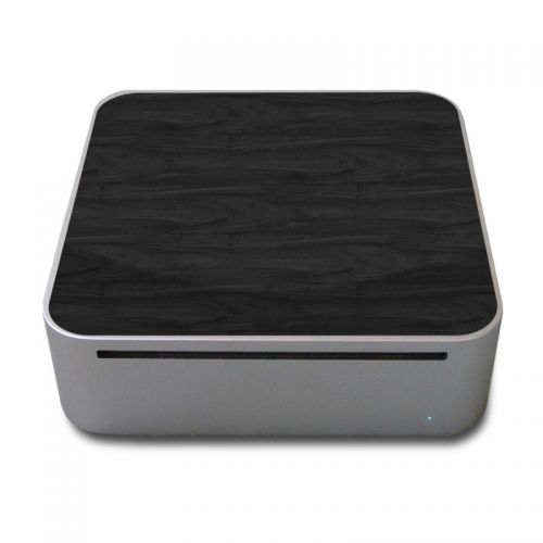 Black Woodgrain Mac mini Skin