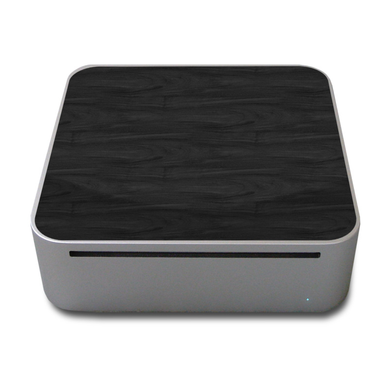 Old Mac mini Skin design of Black, Brown, Wood, Grey, Flooring, Floor, Laminate flooring, Wood flooring with black colors