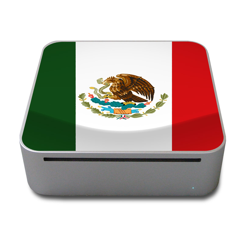 Mexican Flag Mac mini Skin