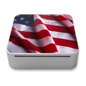 Patriotic Mac mini Skin