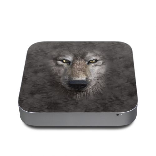 Grey Wolf Apple Mac mini Skin