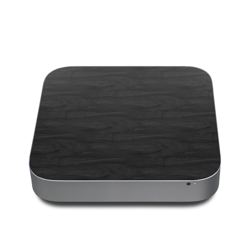 Black Woodgrain Apple Mac mini Skin