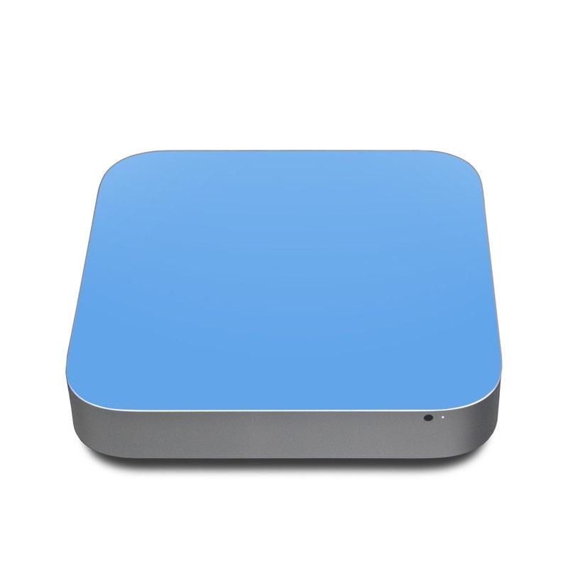 Solid State Blue Apple Mac mini Skin