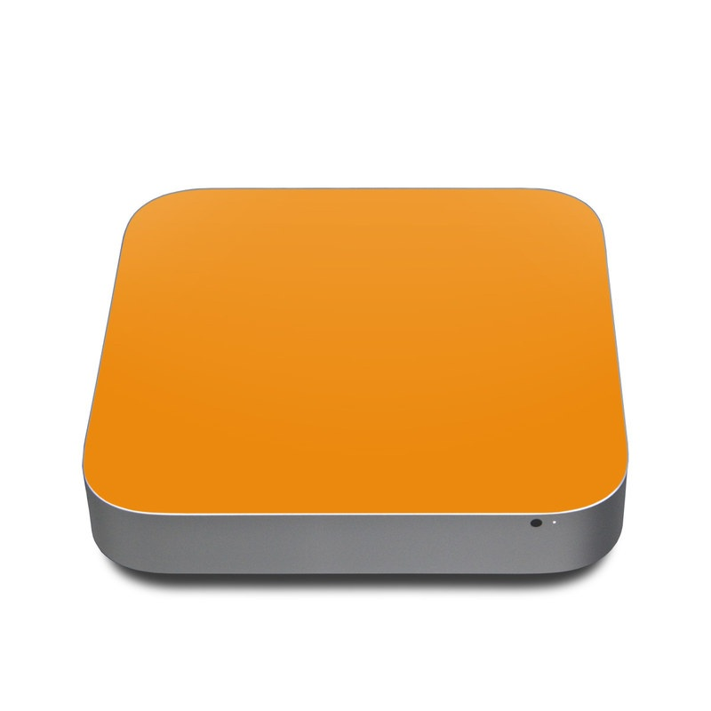 Mac mini Skin design of Orange, Yellow, Brown, Text, Amber, Font, Peach with orange colors