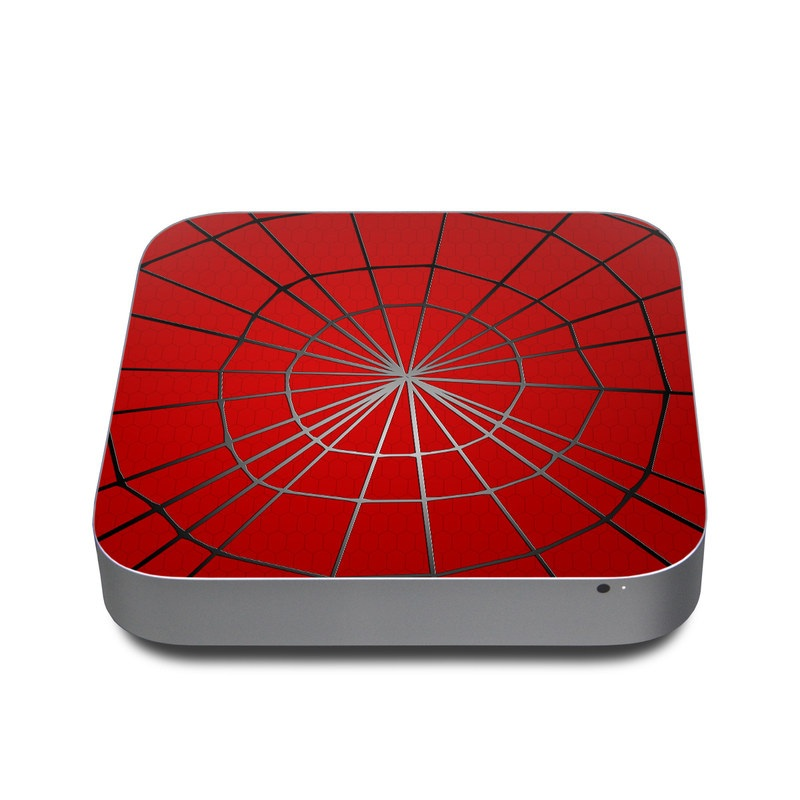 Mac mini Skin design of Red, Symmetry, Circle, Pattern, Line with red, black, gray colors