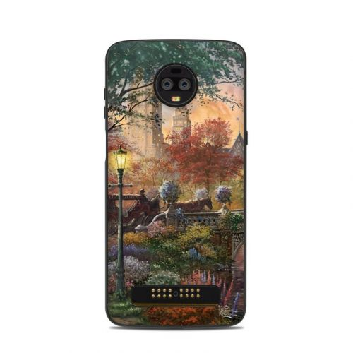 Autumn in New York Motorola Moto Z3 Skin