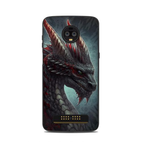 Black Dragon Motorola Moto Z3 Skin