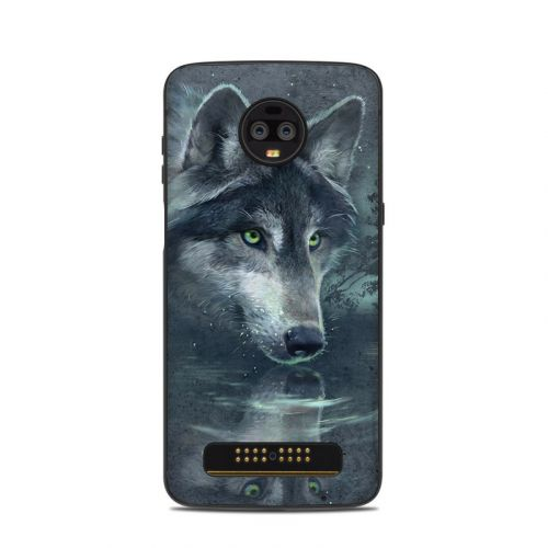Wolf Reflection Motorola Moto Z3 Skin