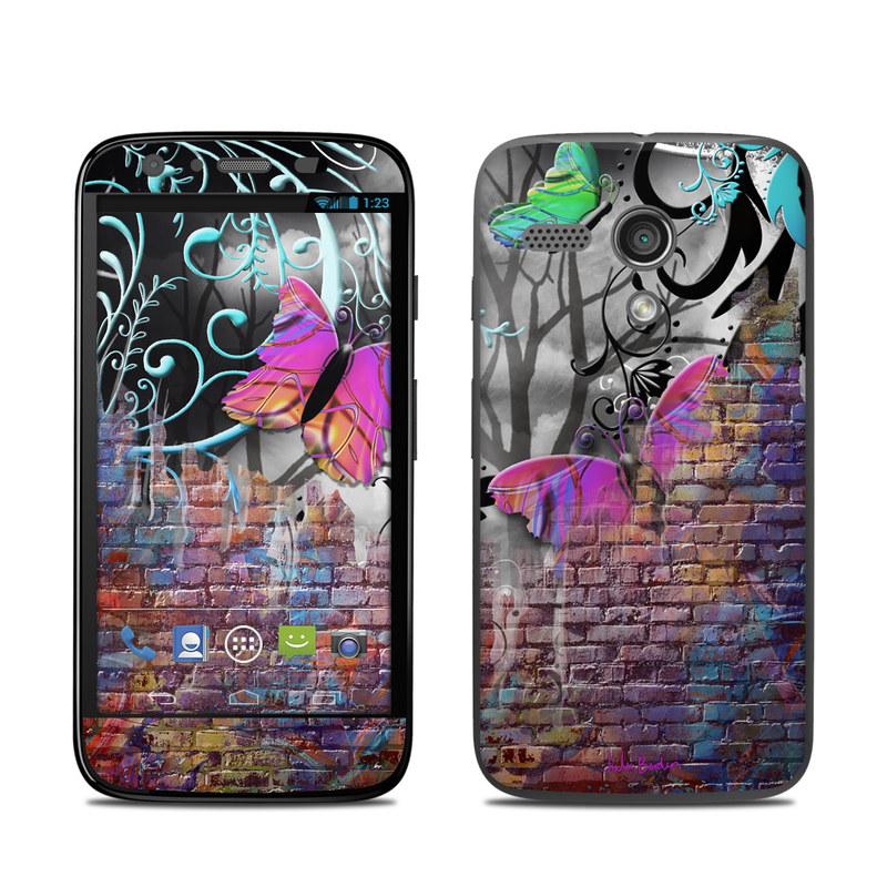 Butterfly Wall Motorola Moto G Skin