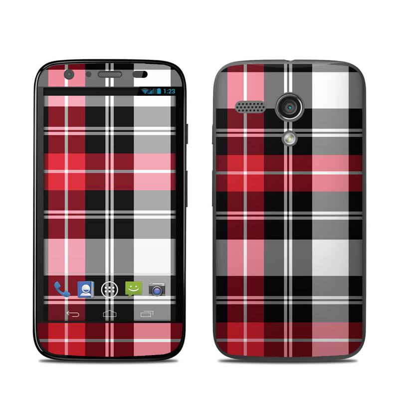 Red Plaid Motorola Moto G Skin