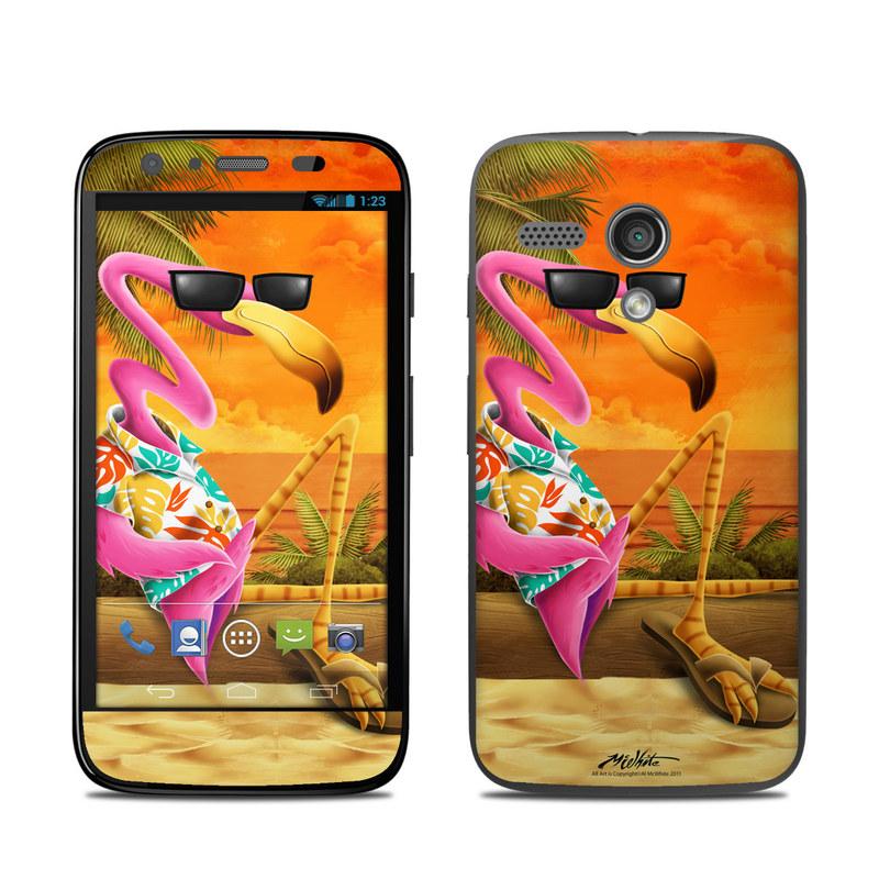 Sunset Flamingo Motorola Moto G Skin