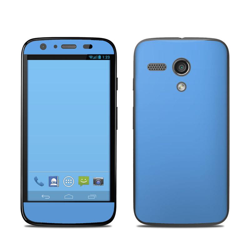 Solid State Blue Motorola Moto G Skin