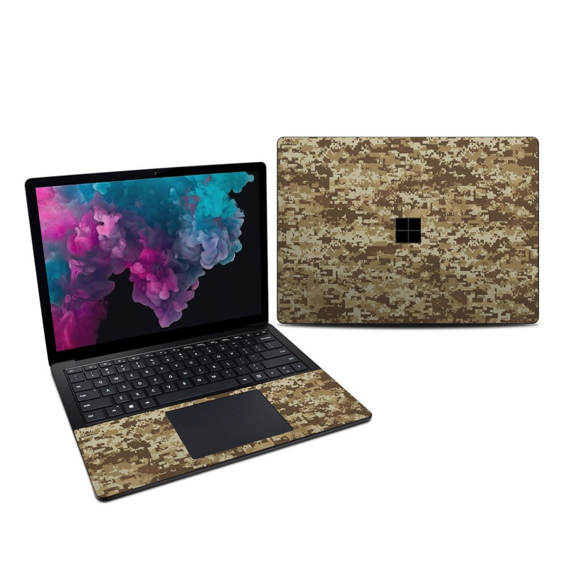 Microsoft Surface Laptop 3 13.5-inch Skin design of Military camouflage, Brown, Pattern, Camouflage, Wall, Beige, Design, Textile, Uniform, Flooring with brown colors