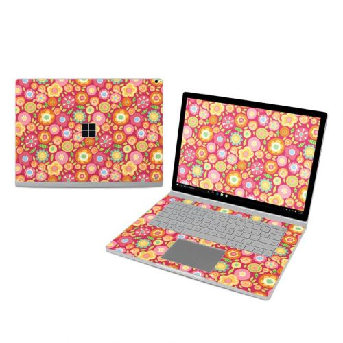Flowers Squished Microsoft Surface Book 3 15-inch i7 Skin