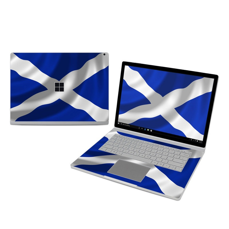 Microsoft Surface Book 3 15-inch i7 Skin design of Flag, Blue, Cobalt blue, Electric blue, Gesture, Flag of the united states with blue, gray, black, white colors