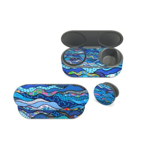 The Blues Microsoft Surface Earbuds Skin