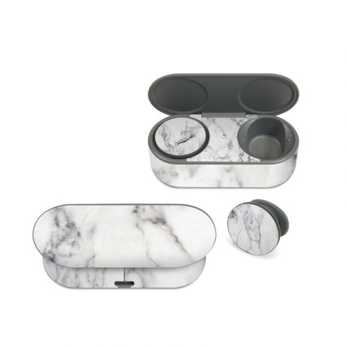 White Marble Microsoft Surface Earbuds Skin