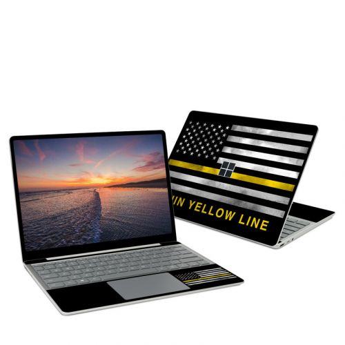 Thin Yellow Line Microsoft Surface Laptop Go Skin