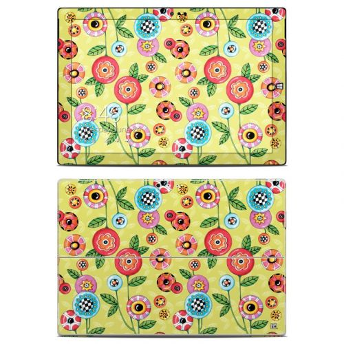 Button Flowers Microsoft Surface Pro 3 Skin