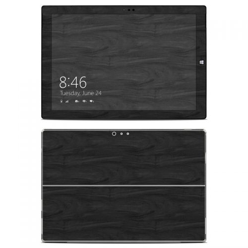Black Woodgrain Microsoft Surface Pro 3 Skin