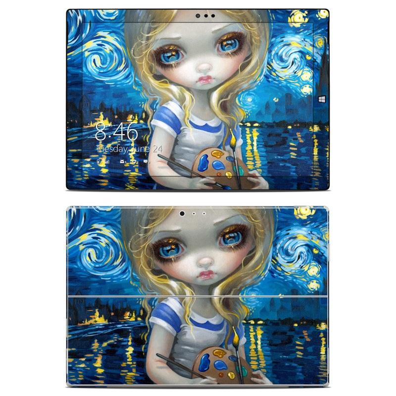 Alice in a Van Gogh Microsoft Surface Pro 3 Skin