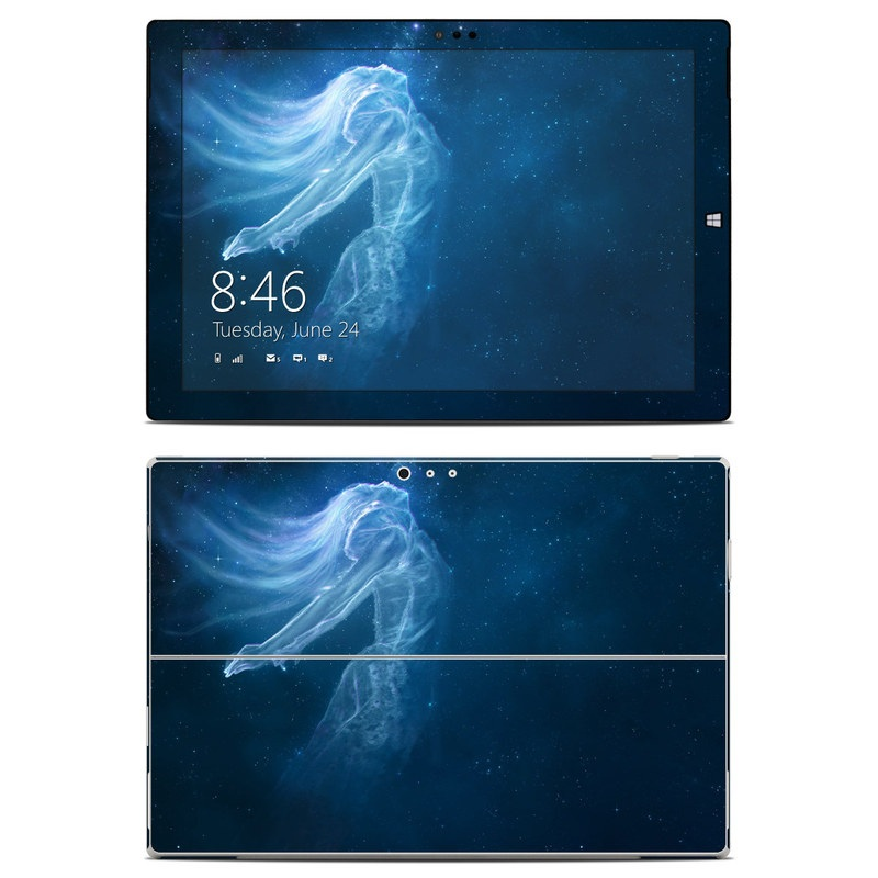 Microsoft Surface Pro 3 Skin design of Sky, Atmosphere, Water, Darkness, Space, Organism, Underwater, Bioluminescence, Night, Midnight with white, blue, black colors