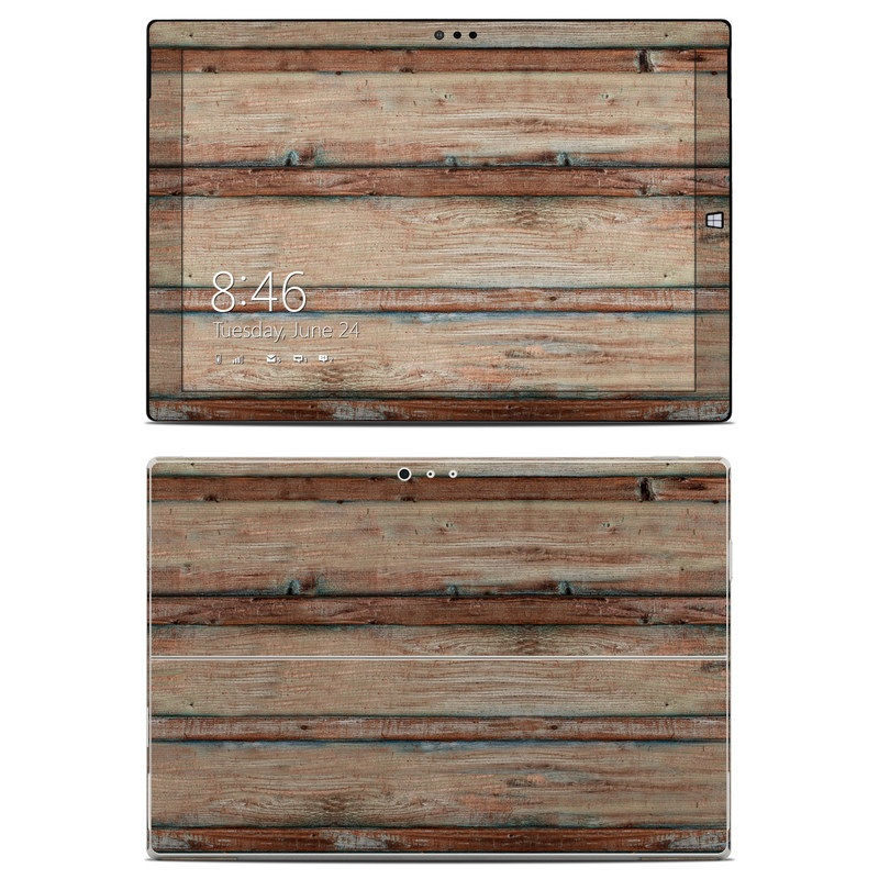 Boardwalk Wood Microsoft Surface Pro 3 Skin
