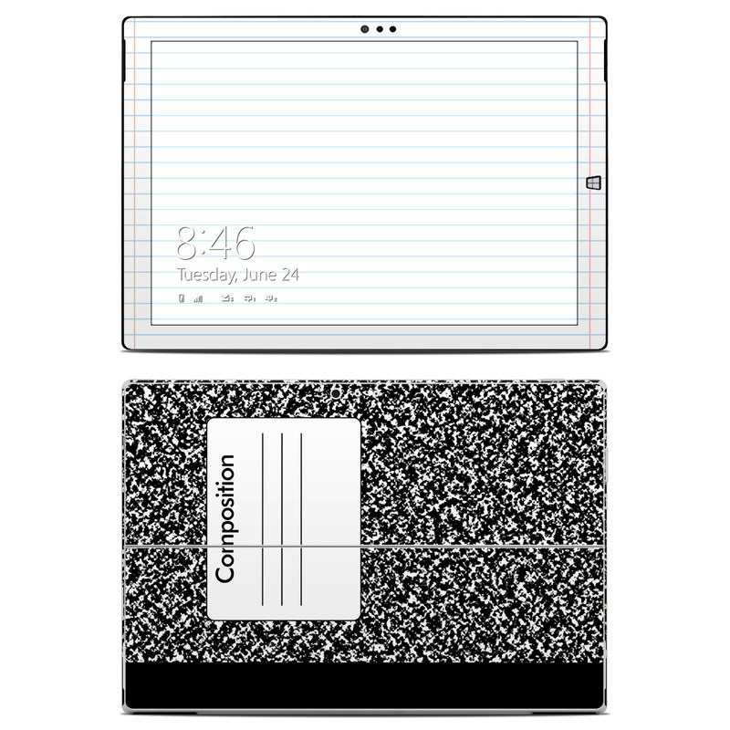 Composition Notebook Microsoft Surface Pro 3 Skin