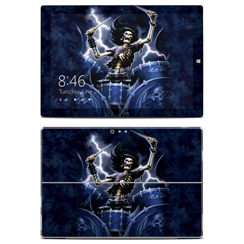 Microsoft Surface Pro 3 Skin design of Action-adventure game, Fictional character, Cg artwork, Demon, Illustration, Supervillain, Mythology, Darkness, Massively multiplayer online role-playing game with black, blue, gray colors