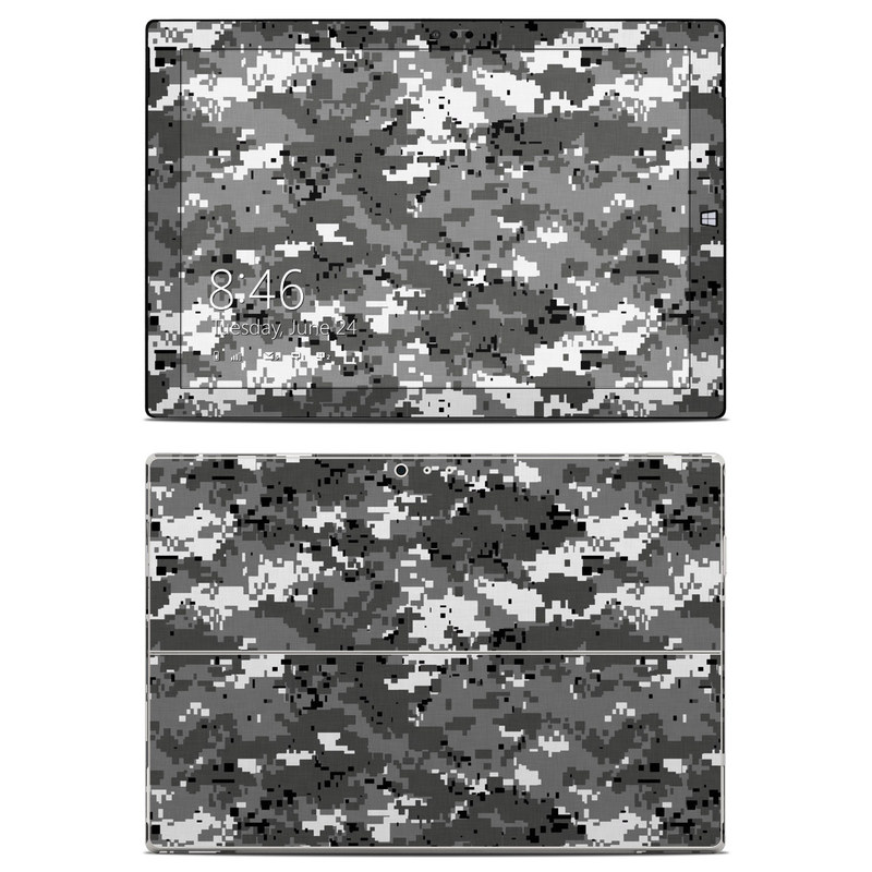 Microsoft Surface Pro 3 Skin design of Military camouflage, Pattern, Camouflage, Design, Uniform, Metal, Black-and-white with black, gray colors