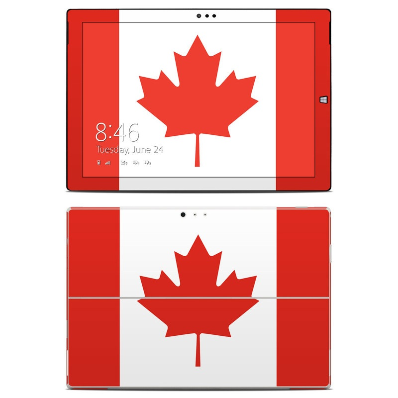 Canadian Flag Microsoft Surface Pro 3 Skin