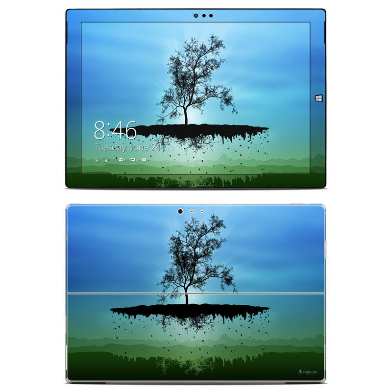 Flying Tree Blue Microsoft Surface Pro 3 Skin