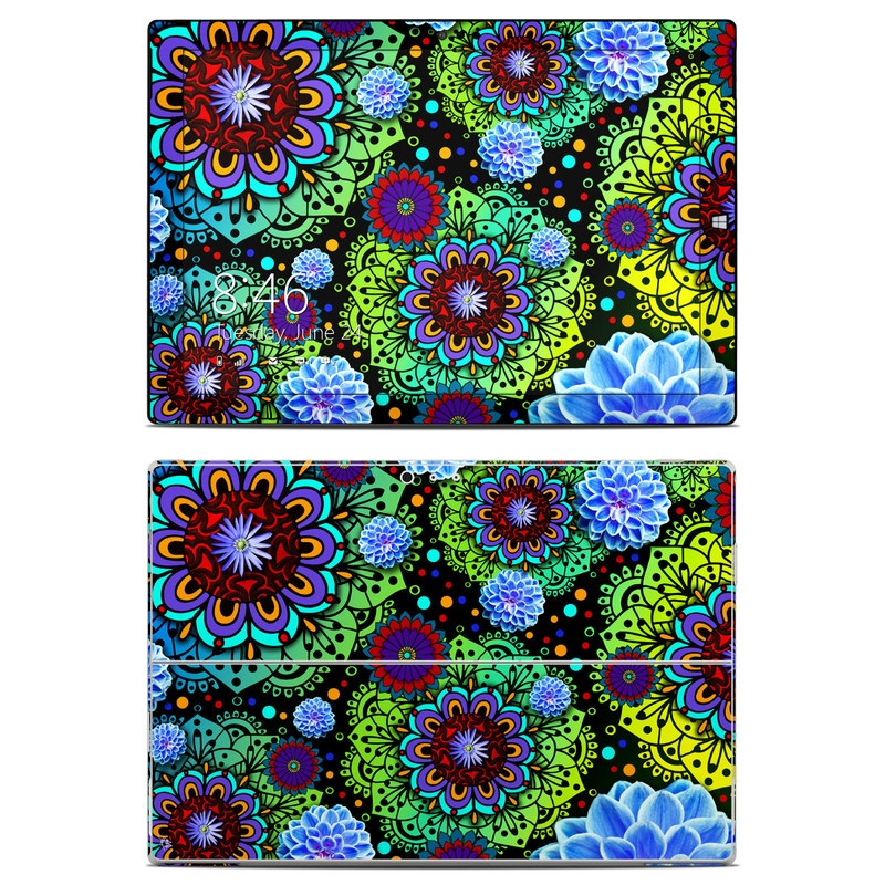 Funky Floratopia Microsoft Surface Pro 3 Skin