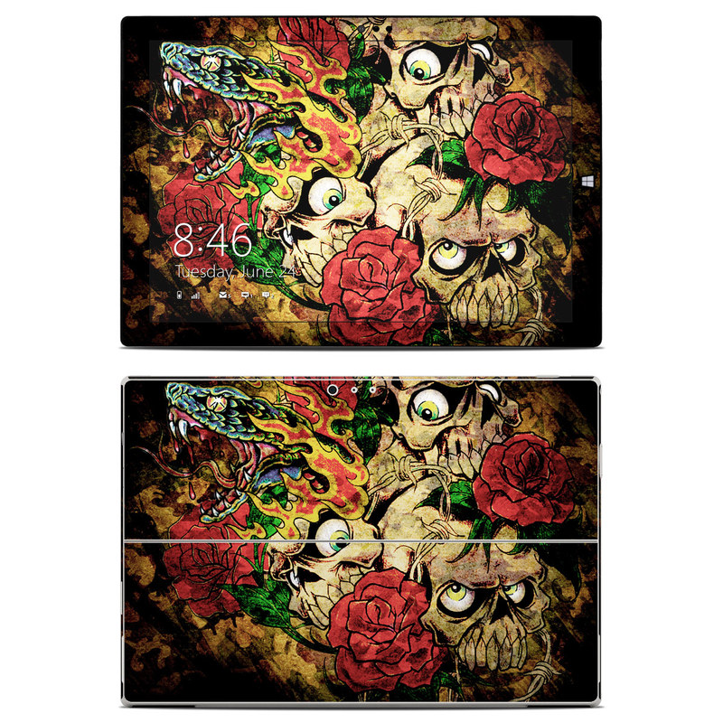 Gothic Tattoo Microsoft Surface Pro 3 Skin
