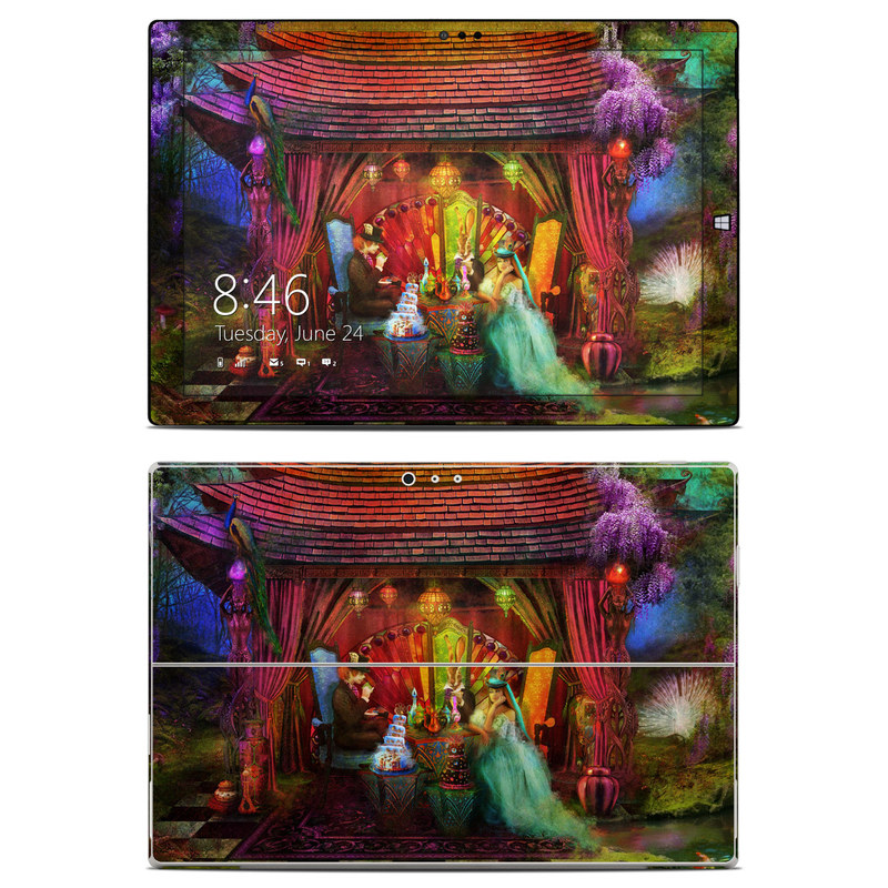 Microsoft Surface Pro 3 Skin design of Hindu temple, Temple, Art, Painting, Place of worship, Stage, Fictional character with black, red, green, blue, gray colors
