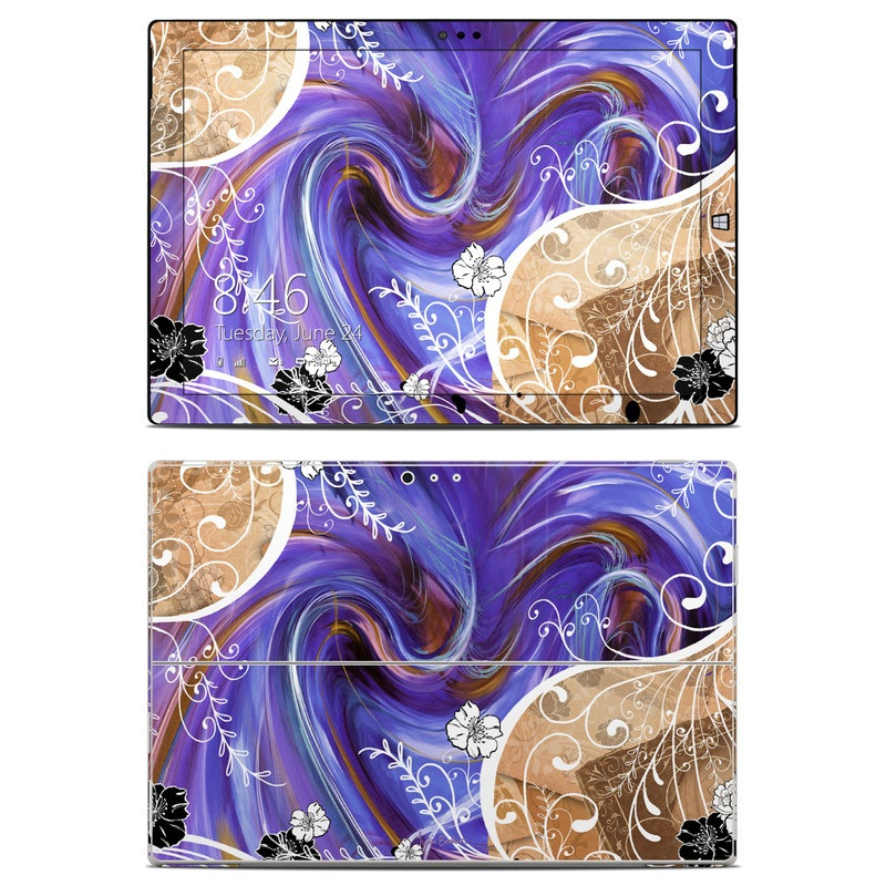 Purple Waves Microsoft Surface Pro 3 Skin