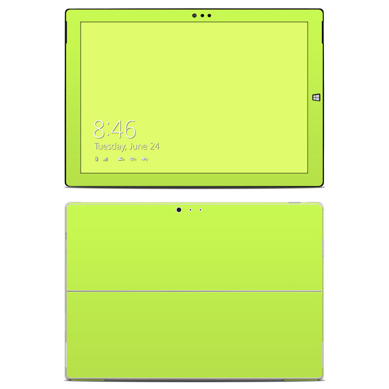 Solid State Lime Microsoft Surface Pro 3 Skin