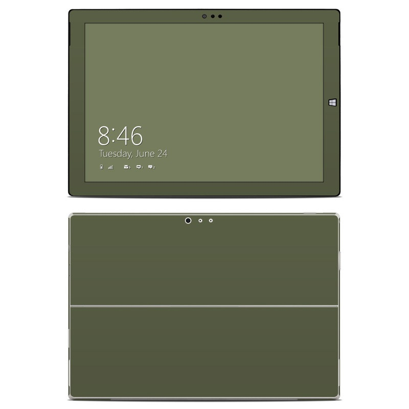 Microsoft Surface Pro 3 Skin design of Green, Brown, Text, Yellow, Grass, Font, Pattern, Beige with green colors
