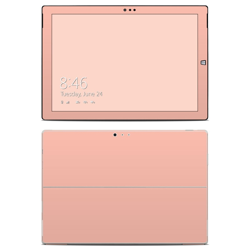 Solid State Peach Microsoft Surface Pro 3 Skin